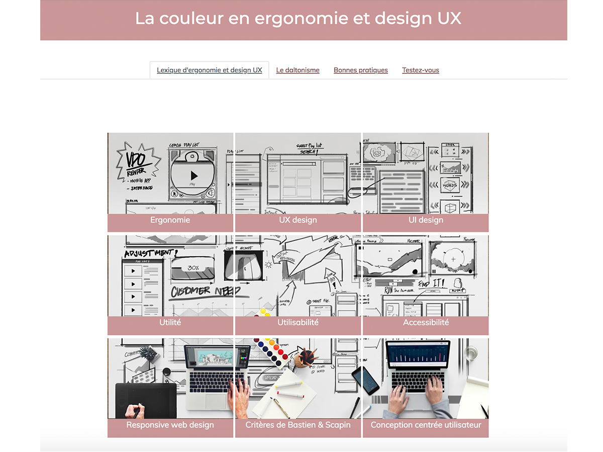 Ergonomy and UX design